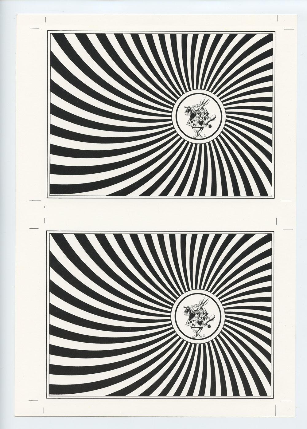 Blotter Acid Art Exhibit Reception Postcard Uncut Through The Looking Glass 1992