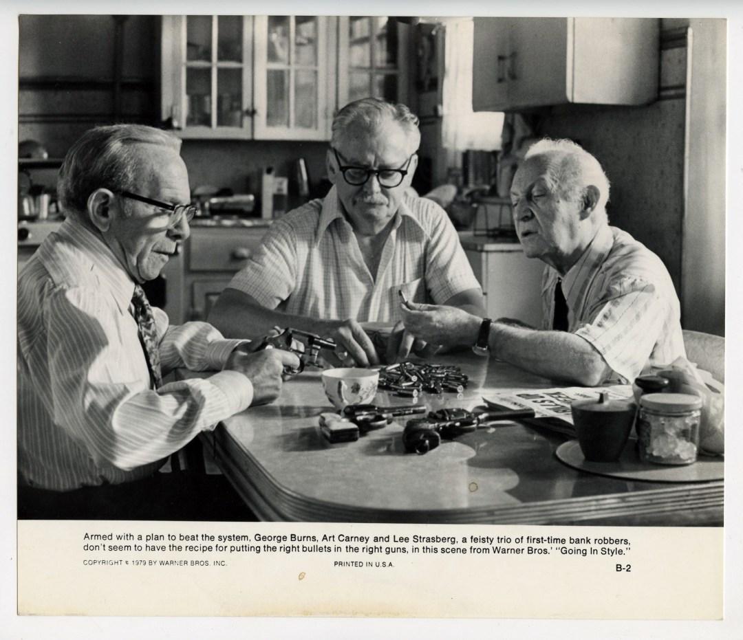 George Burns Art Carney Lee Strasberg 1979 Going in Style  Movie Still Photo