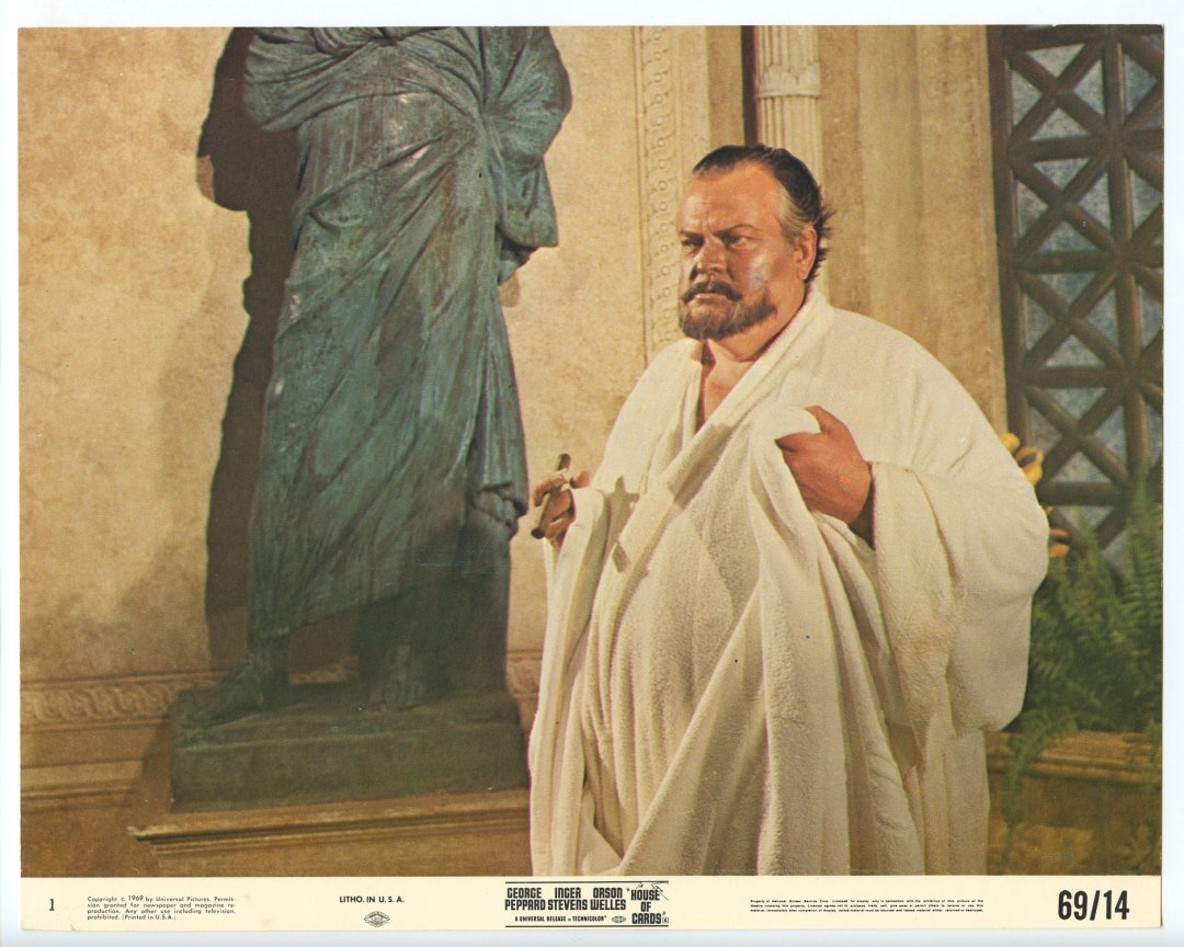 Orson Wells 1969 House Of Cards 8x10 Lobby Card