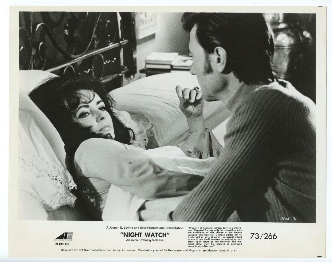 Elizabeth Taylor Laurence Harvey 1973 Night Watch 8 x 10 Lobby Card