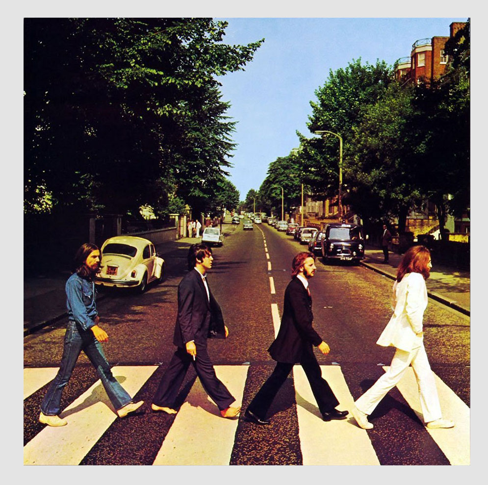 The Beatles Poster Flat Abbey Road Promo 12x12 1 Side