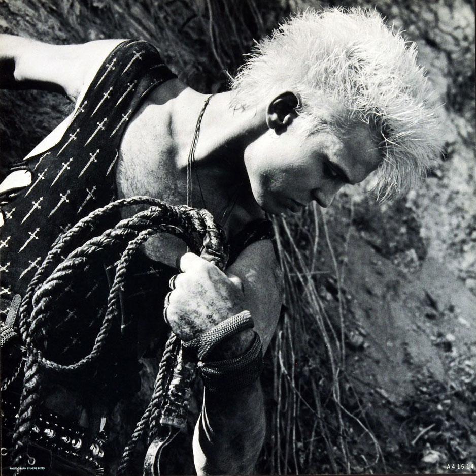 Billy Idol Poster Flat Whiplash Smile 1986 Album Promo 12x12 2 sided