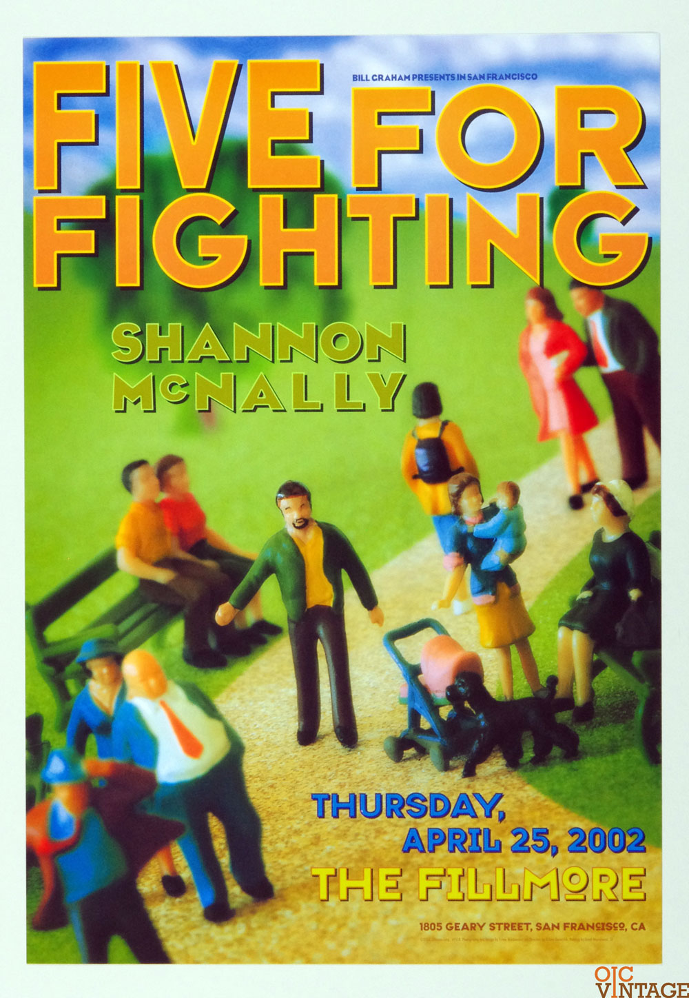 Five for Fighting Shanon McNally Poster 2002 Apr 25 New Fillmore