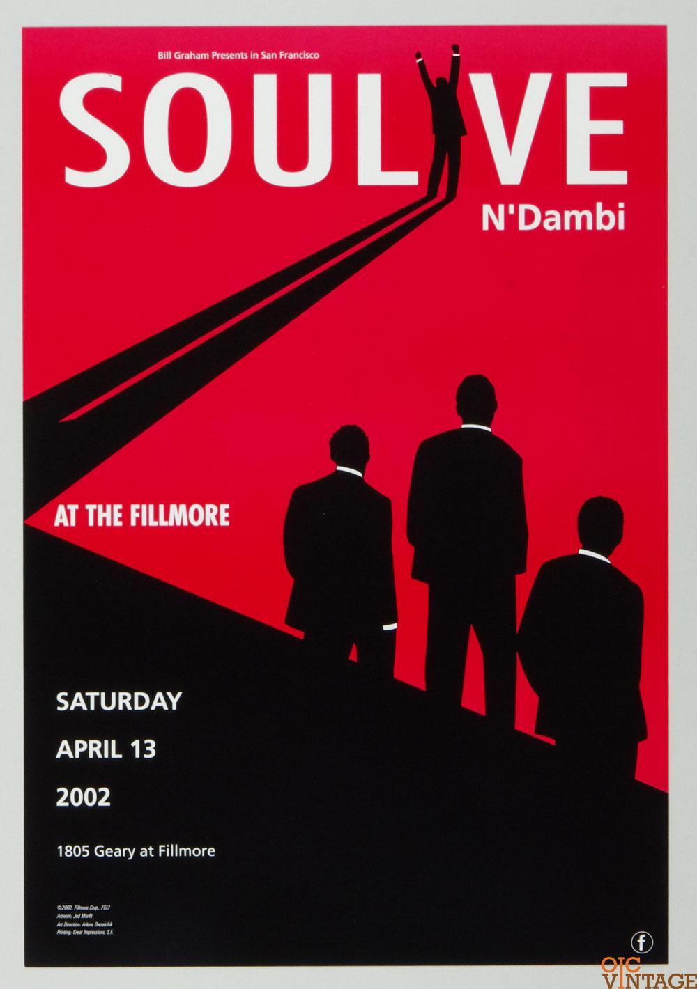 Soulove N'ambi Poster 2002 Apr 13 New Fillmore