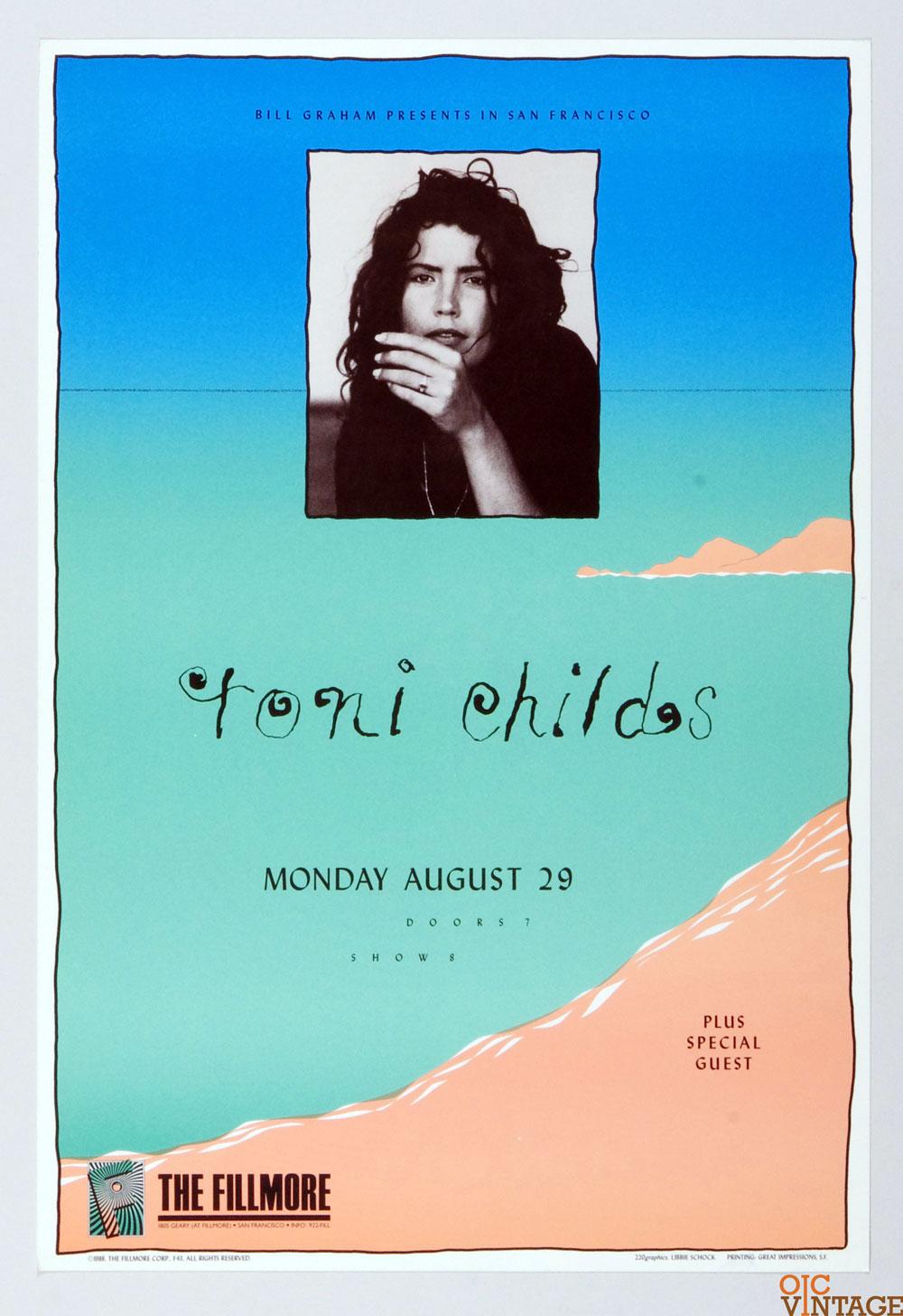 New Fillmore F043 Poster Toni Childs 1988 Aug 29