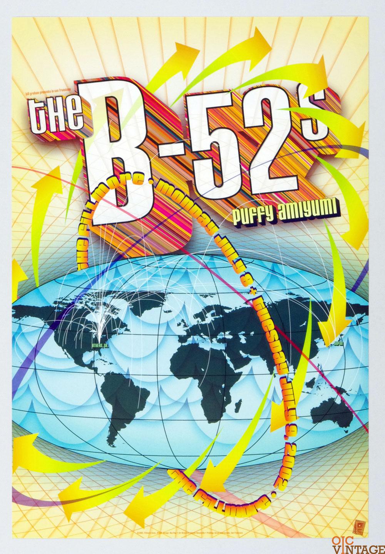 New Fillmore F529 Poster The B-52's Puffy Amiyumi 2002 Jul 8