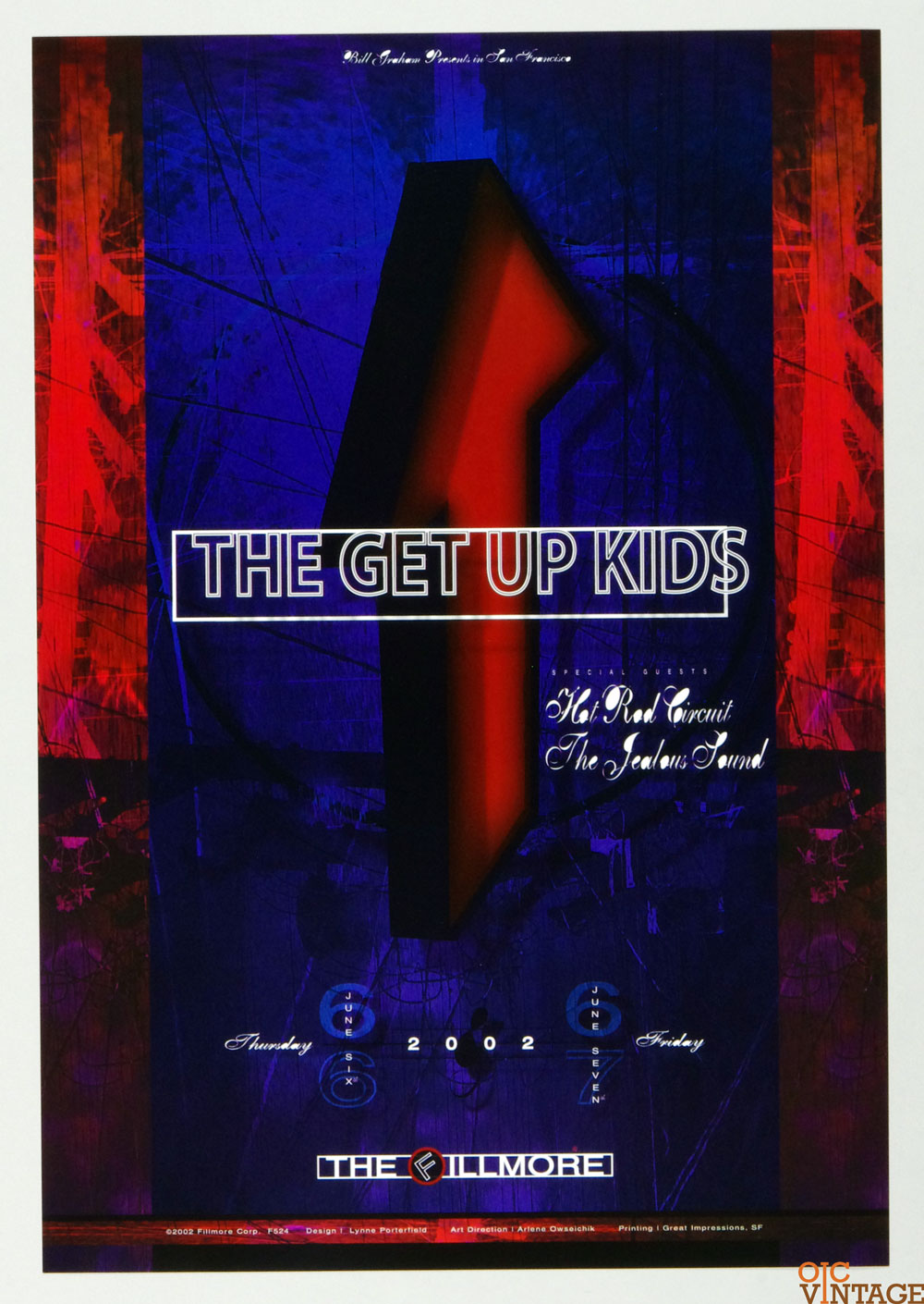 The Get Up Kids Hot Rod Circuit Poster 2002 Jun 6 New Fillmore