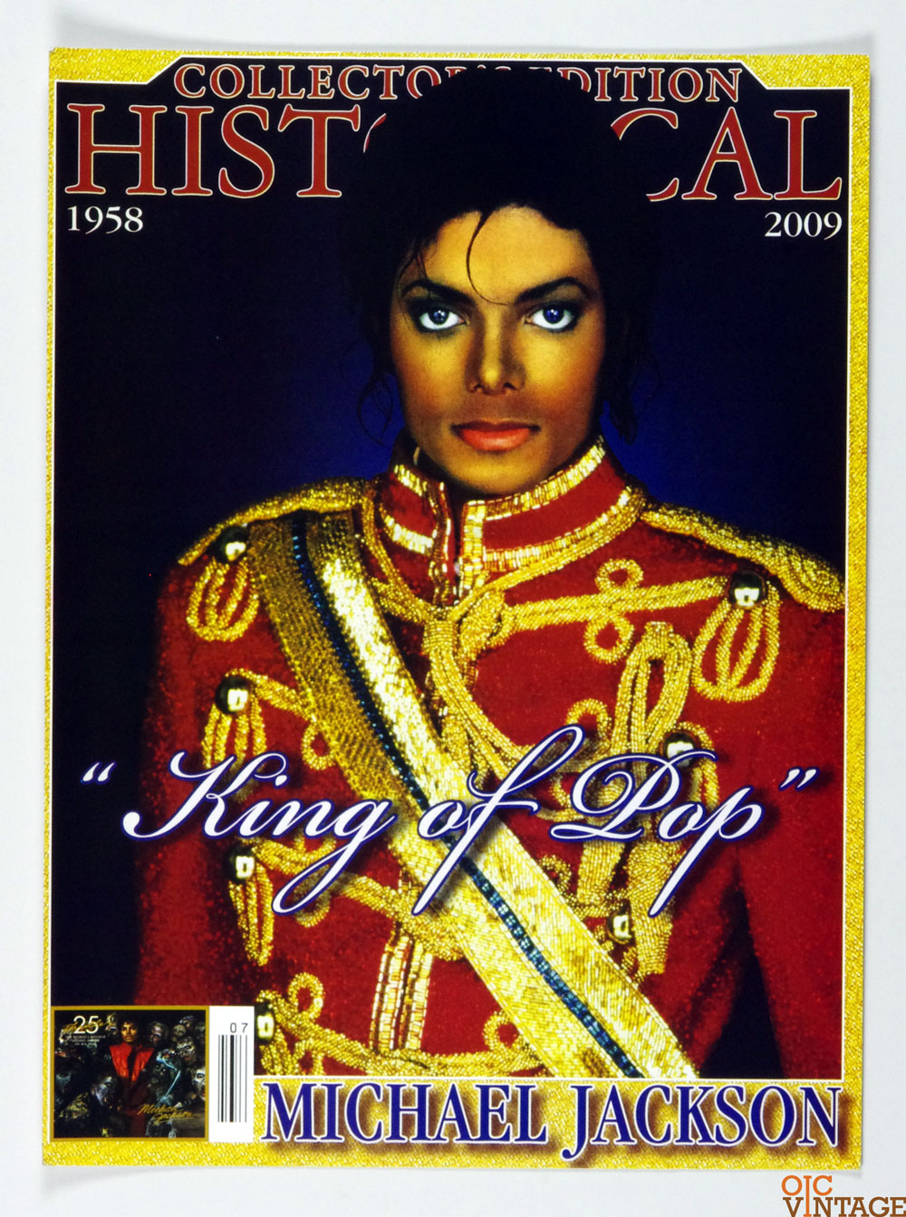 Michael Jackson Poster 2009 Collector Edition King Of Pop Magazine Promotion