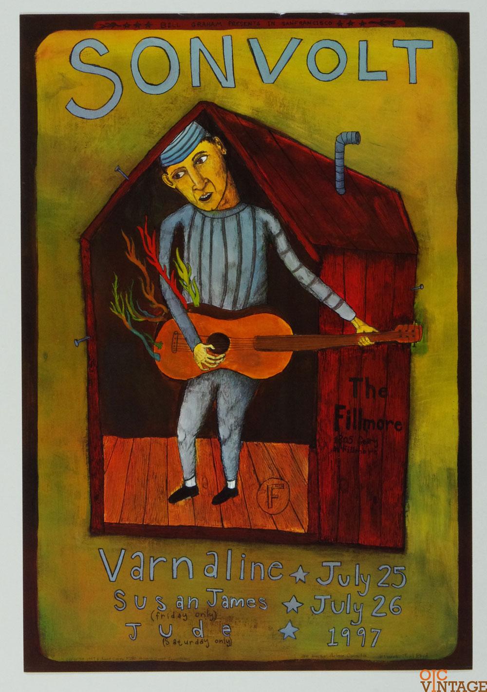 Sonvolt Varnaline Susan James JUDE Poster 1997 Jul 25 New Fillmore