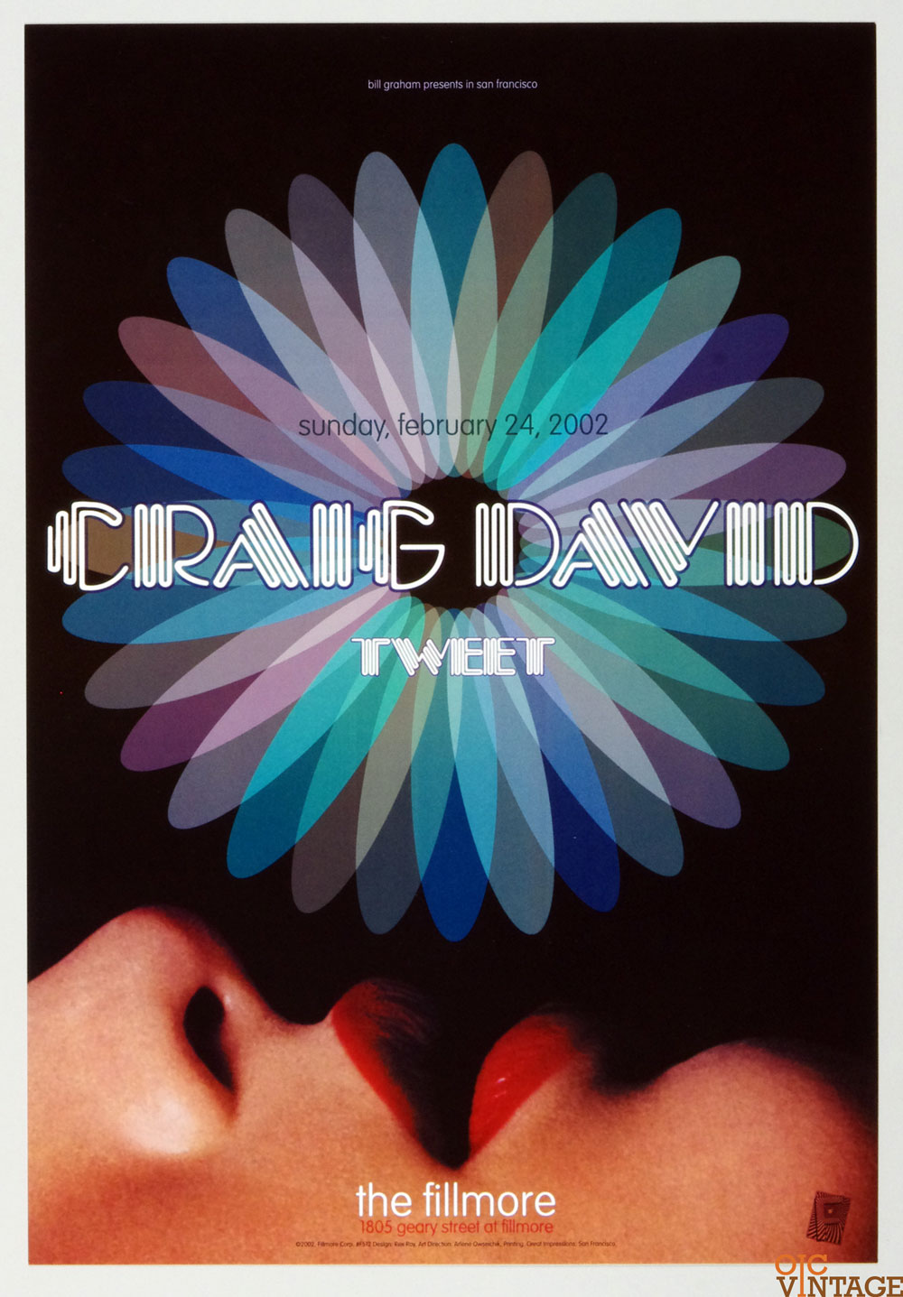 New Fillmore F512 Poster Craig David Tweet 2002 Feb 24