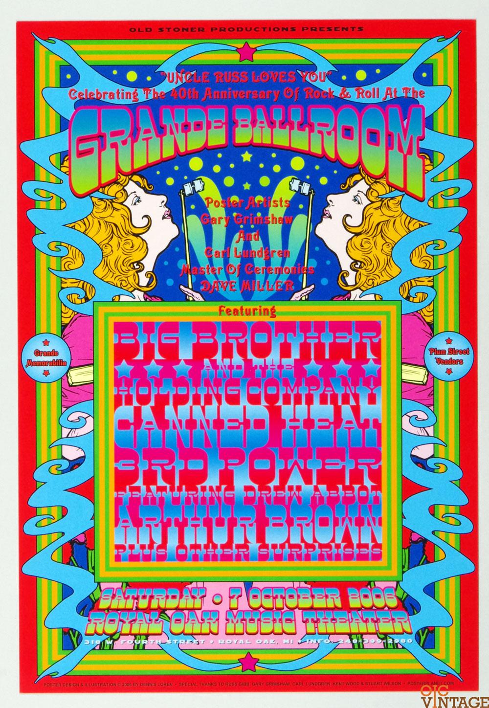 Grande Ballroom Poster 2006 Oct 7 40th Anniversary of Rock and Roll Dennis Loren