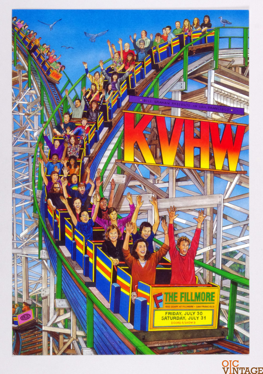 K V H W Poster 1999 Jul 30  New Fillmore