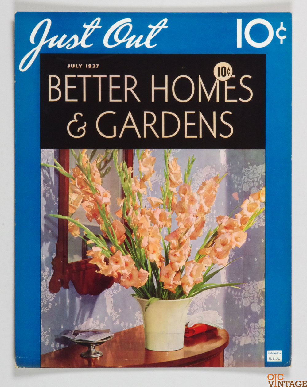 Better Homes & Gardens Cardboard Display 1937 July  Magazine