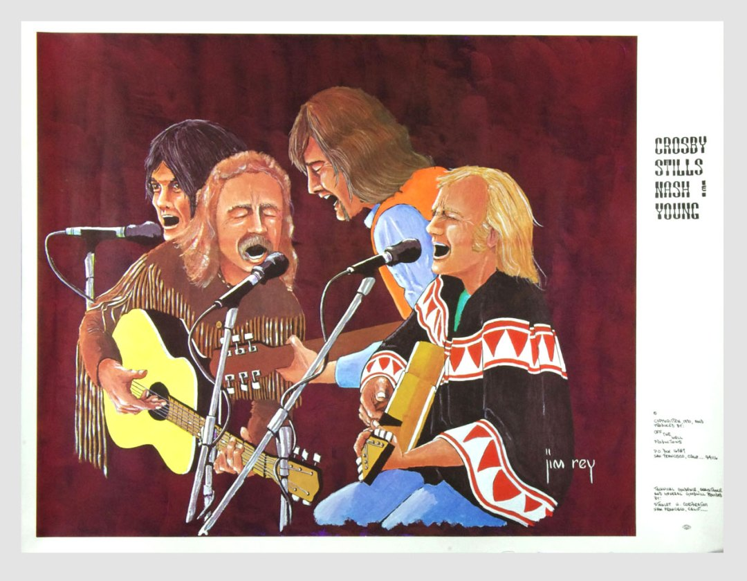 Crosby Stills Nash and Young Poster 1970 Tour