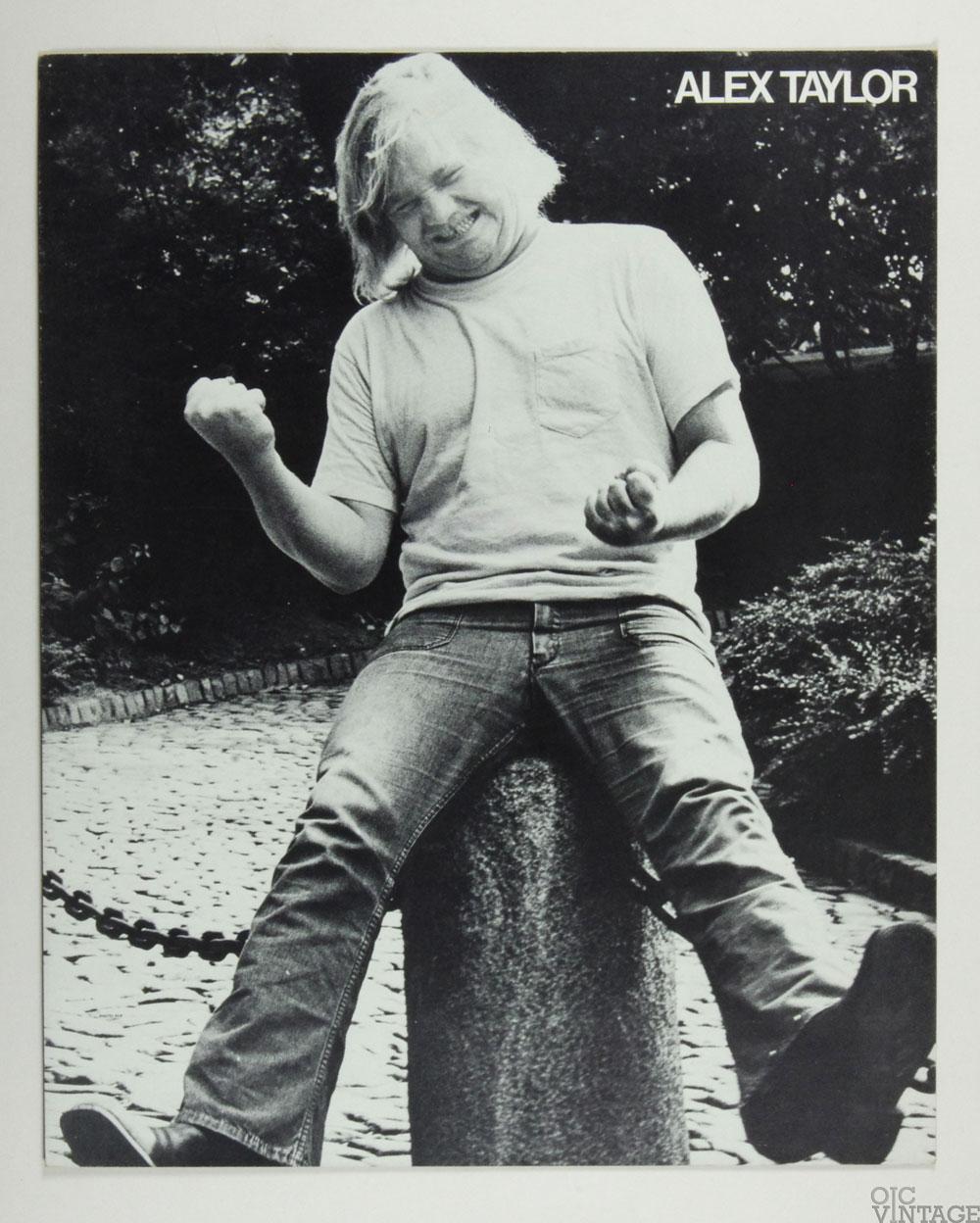 Alex Taylor Poster Cardboard Dinnertime 1972 New Album Promo B/W 22 x 27
