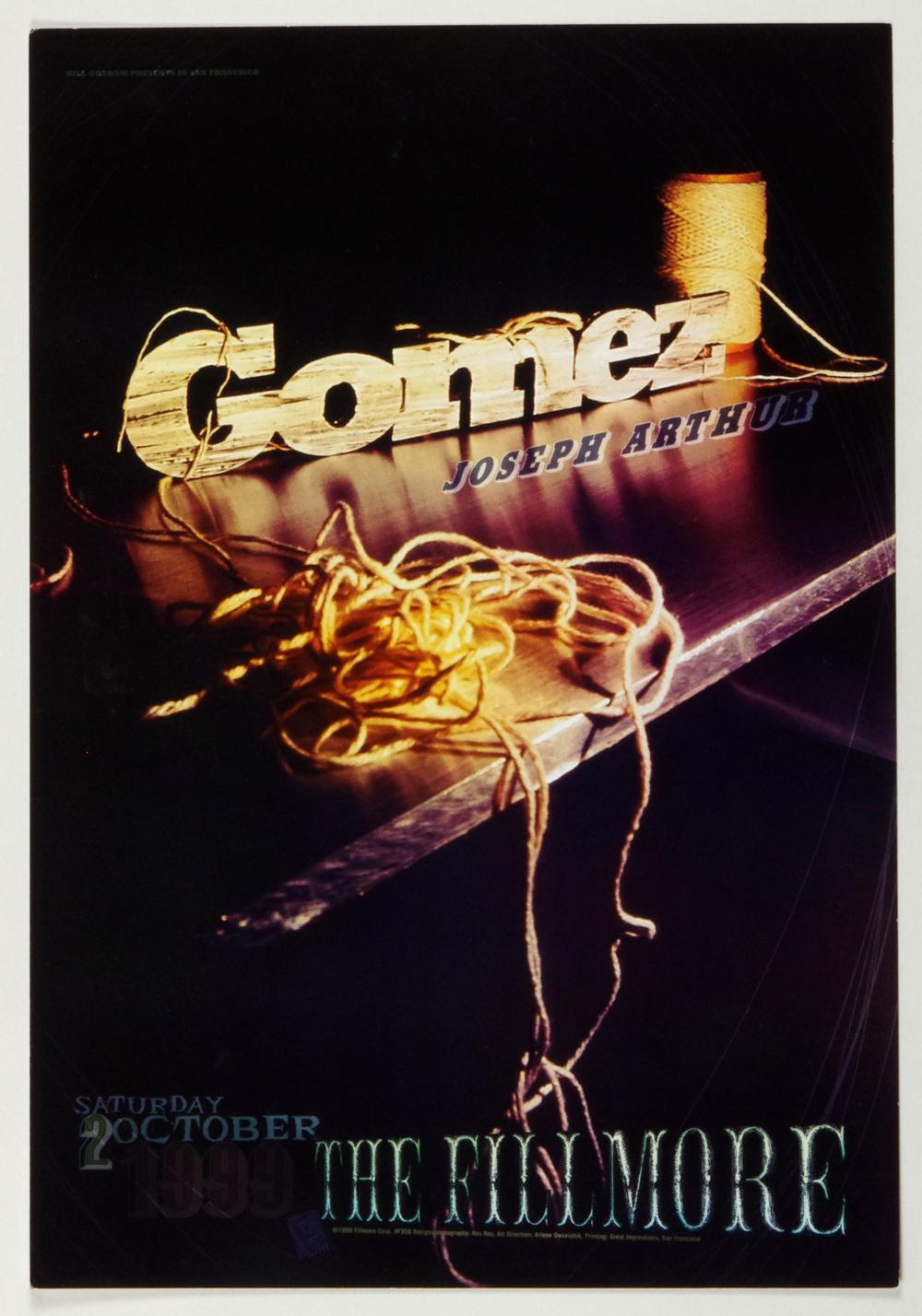 New Fillmore F358 Poster Gomez Joseph Arthur 1999 Oct 2