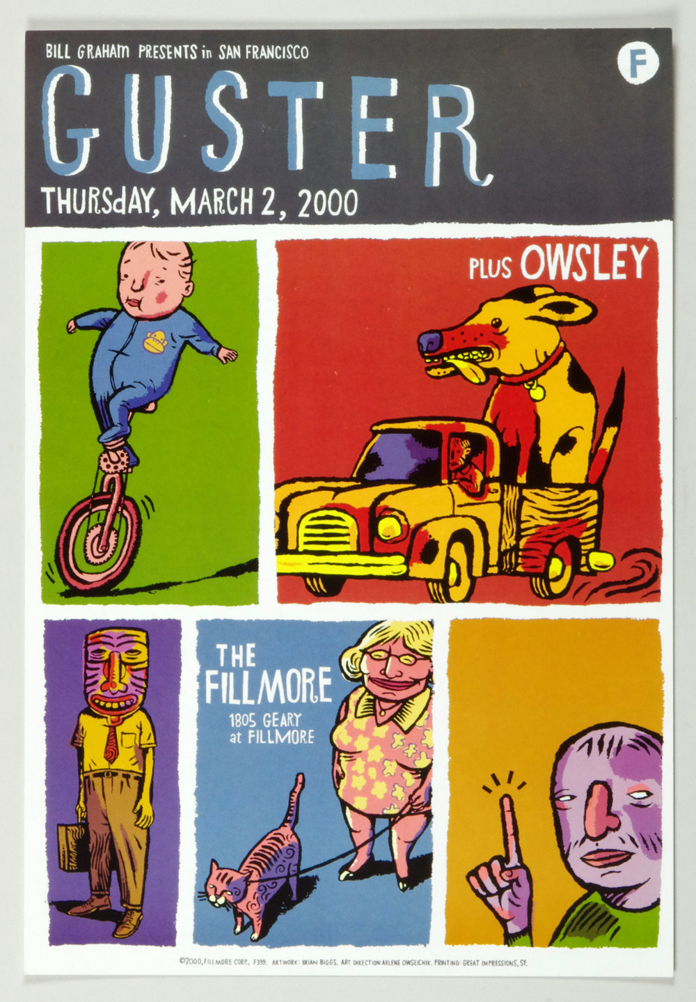 New Fillmore F399 Poster Guster Owsley 2000 Mar 2