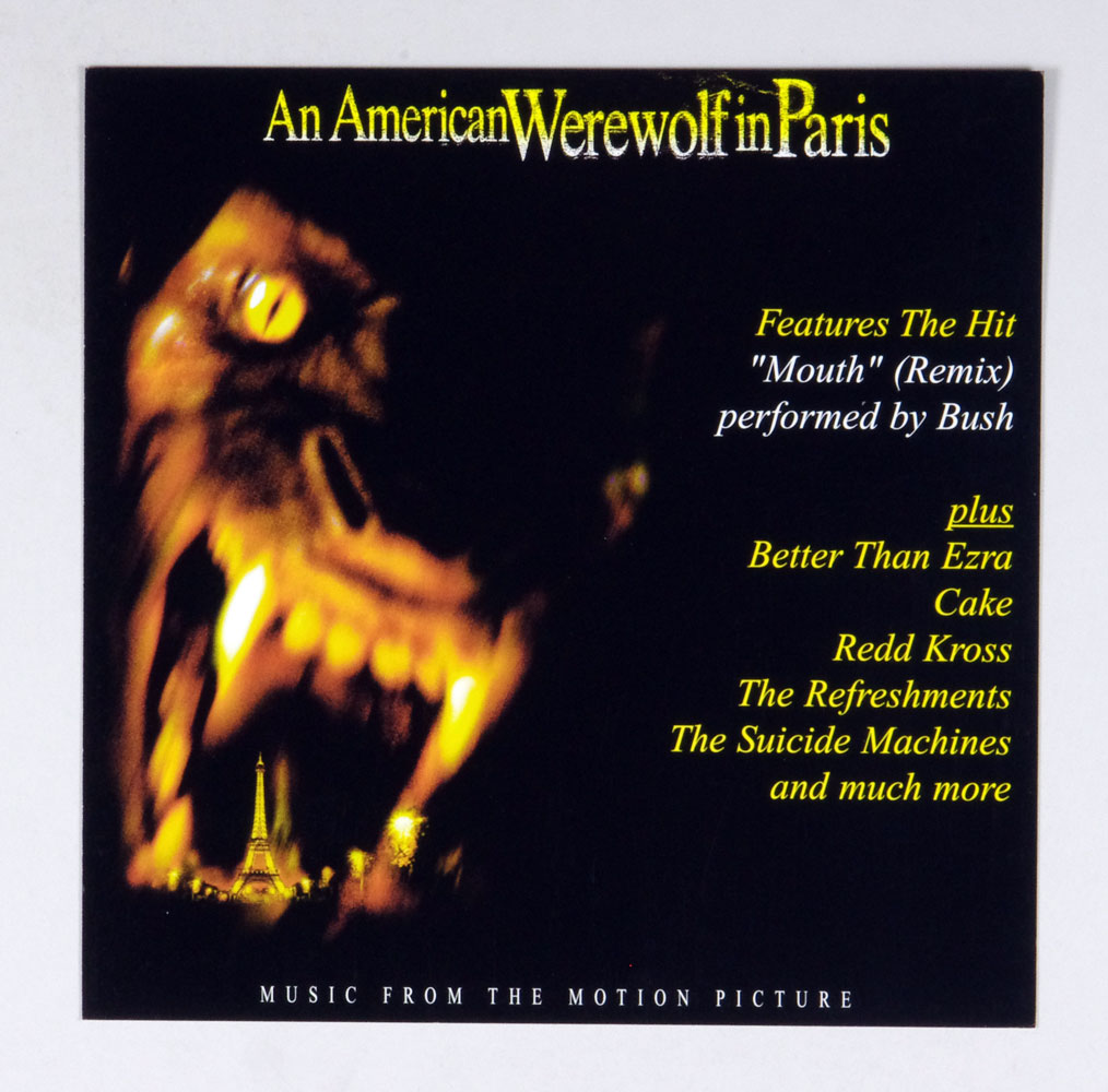 An American Werewolf in Paris Movie Poster Flat 1997 OST Album Promo 12 x 12