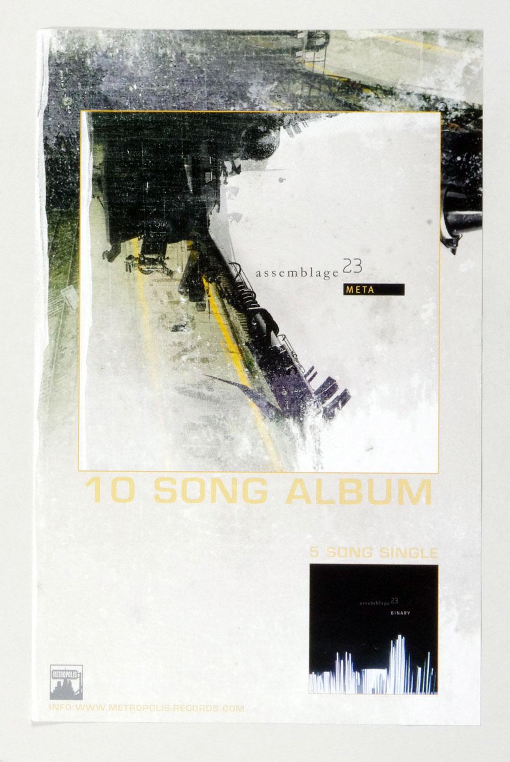Assemblage 23 Poster META 2007 New Album Promo 11 x 17 1 side