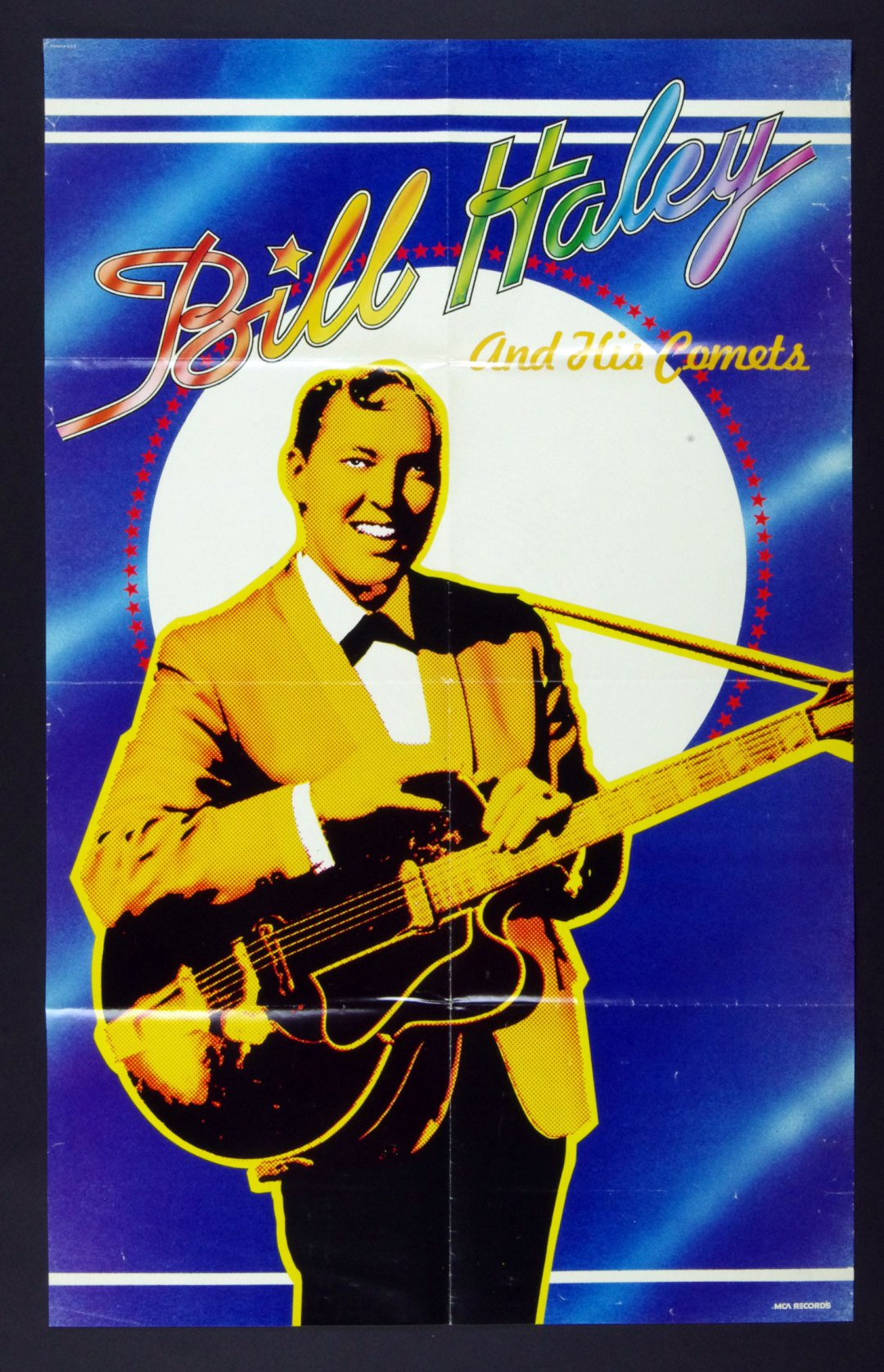 Bill Haley And His Comets Poster Bailando El Rock 1975 Album Promo 22 x 35