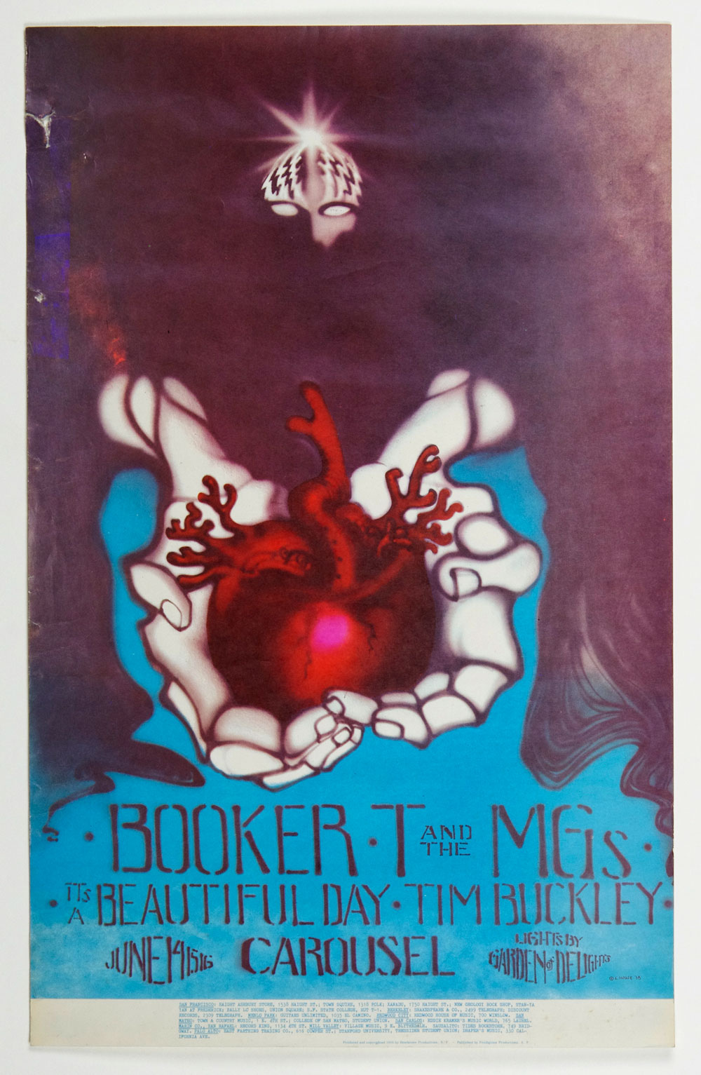 Carousel Ballroom Poster 1968 Jun 14 Booker T & the MG's It's Beautiful Day