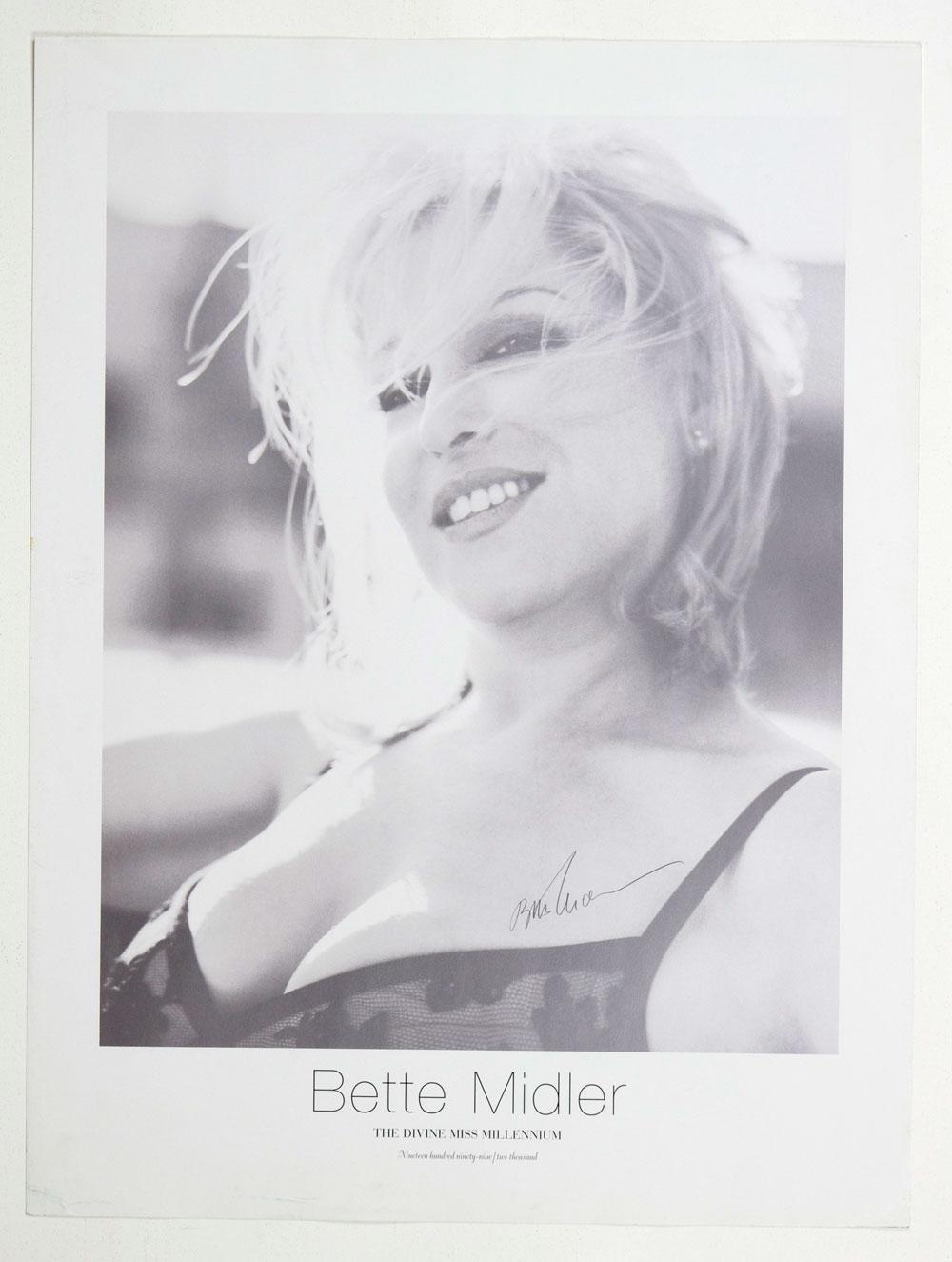 Bette Midler Poster 1999 The Devine Miss Millenium tour 18 x 24