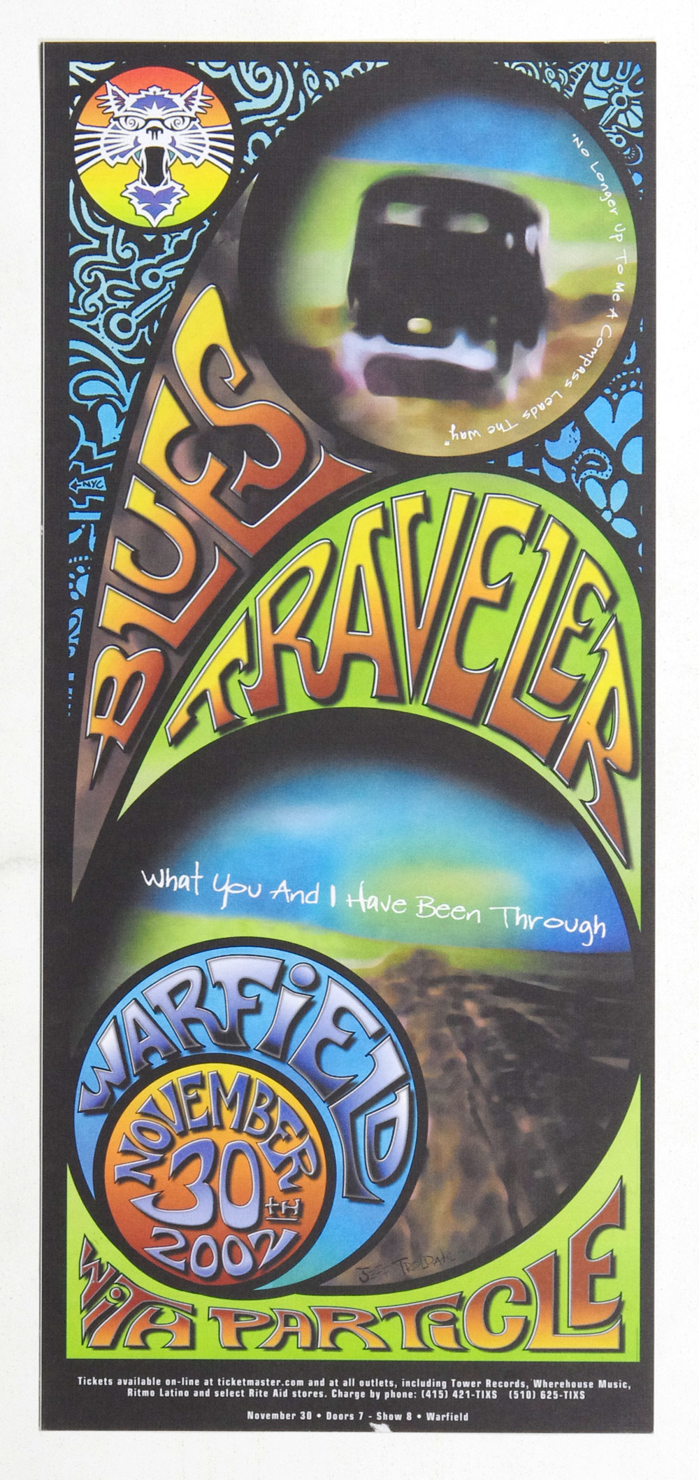 Blues Traveler Poster 2002 Nov 30 The Warffield Theatre San Francsico