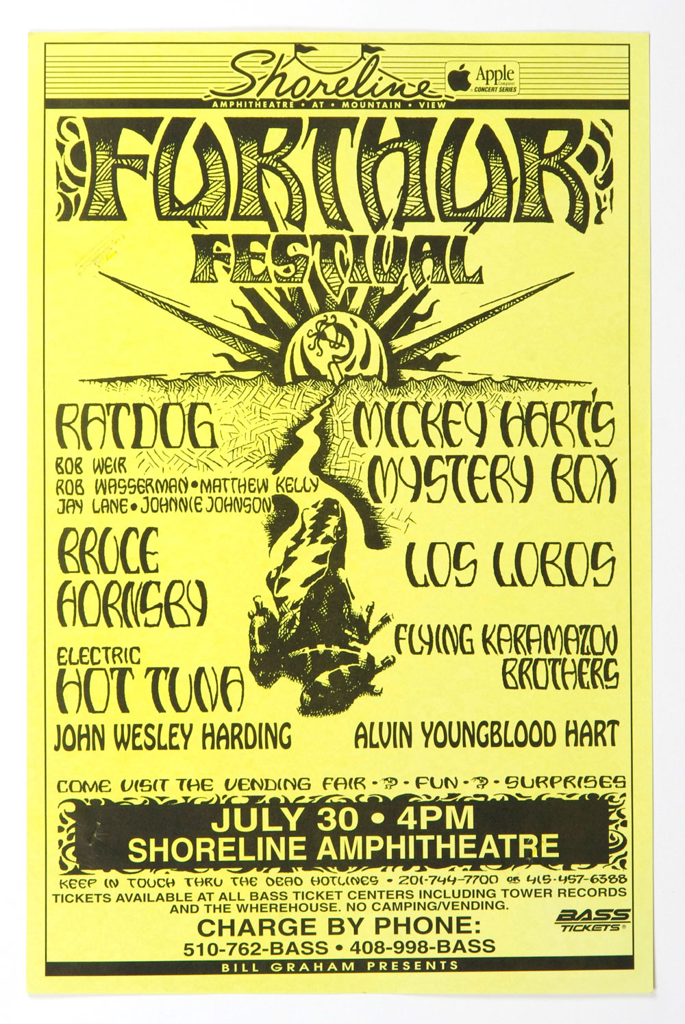 Bob Weir Mickey Hart Poster 1996 Jul 30 Shoreline Amphitheatre