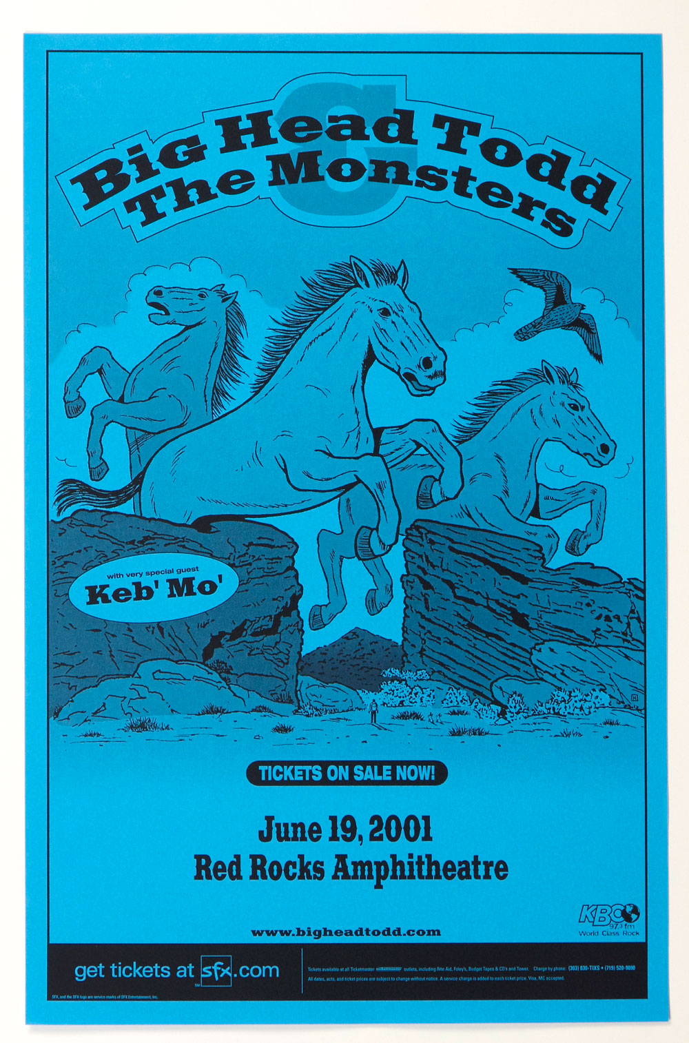 Big Head Todd and The Monster Poster 2001 Jun 19 Red Rock Amphitheatre