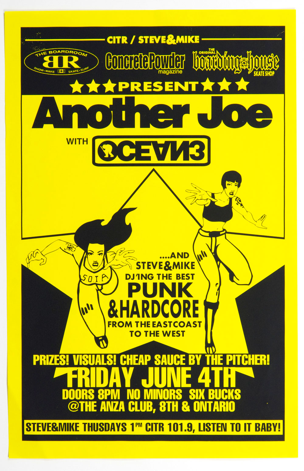 Another Joe Ocean 3 Poster 1999 Jun 4 The Anza Club Vancouver