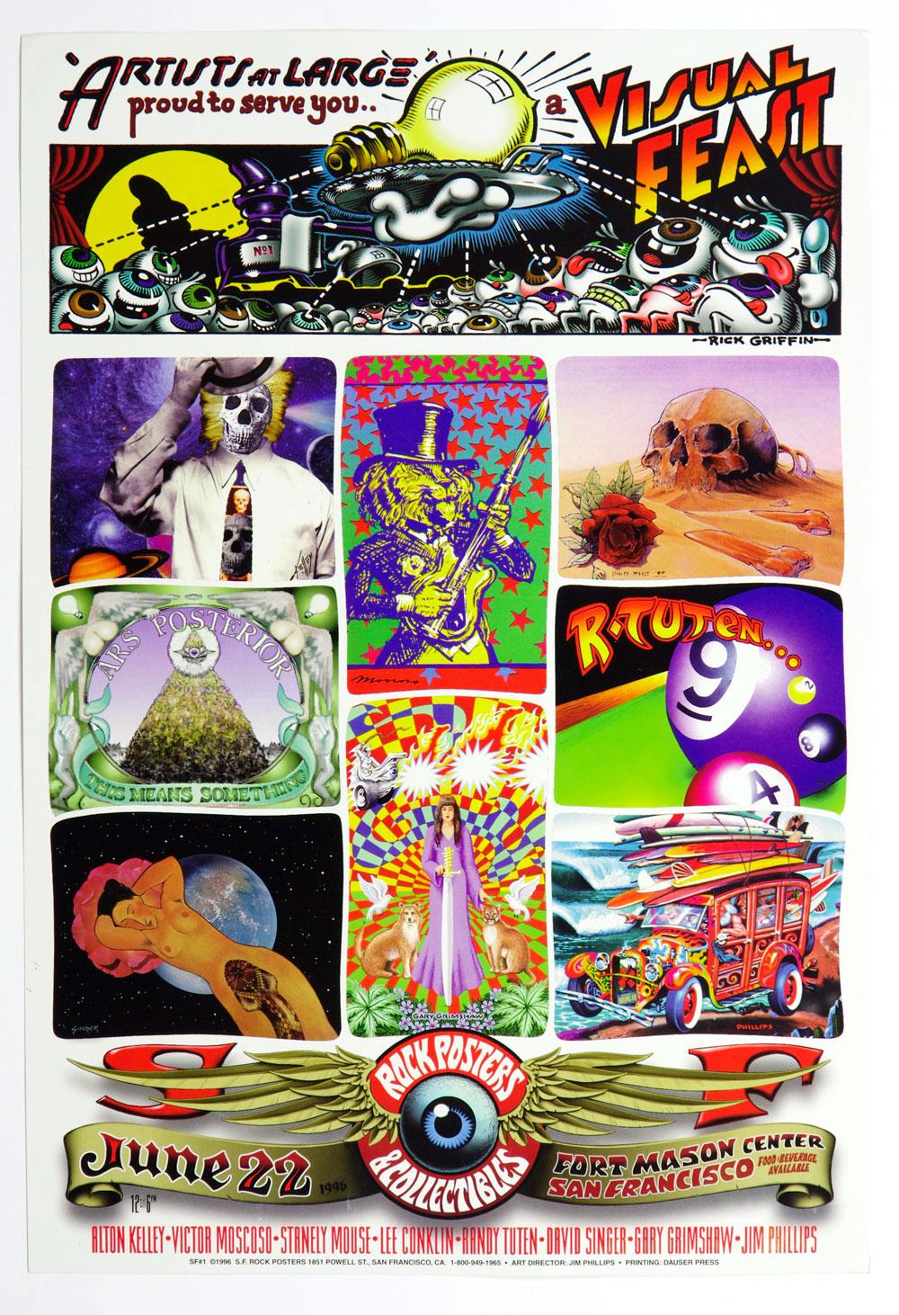 Rock Posters Collectibles Poster 1996 Jun 22 Fort Mason San Francisco