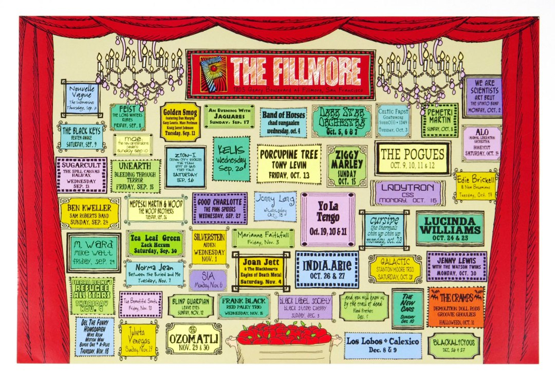 New Fillmore Poster 1996 Q4 Concert Schedule