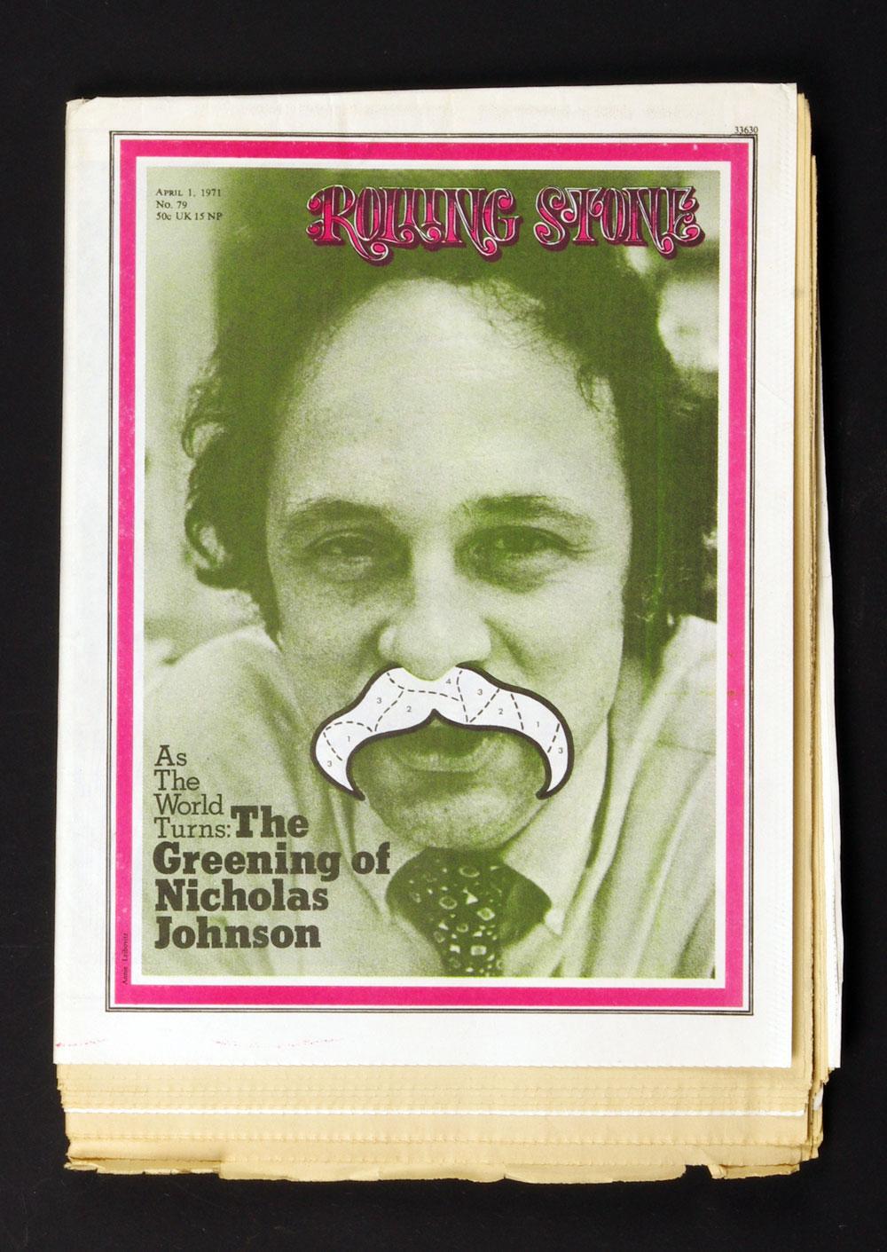 Rolling Stone Magazine 1971 Apr 1 No. 79 Nicolas Johnson