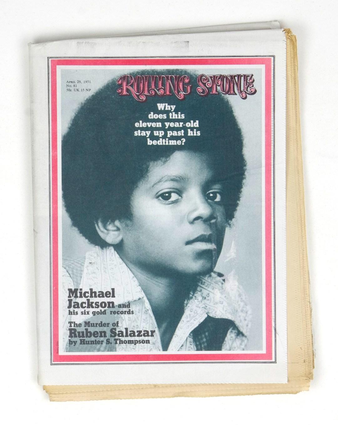Rolling Stone Magazine 1971 Apr 29 No. 81 Michael Jackson