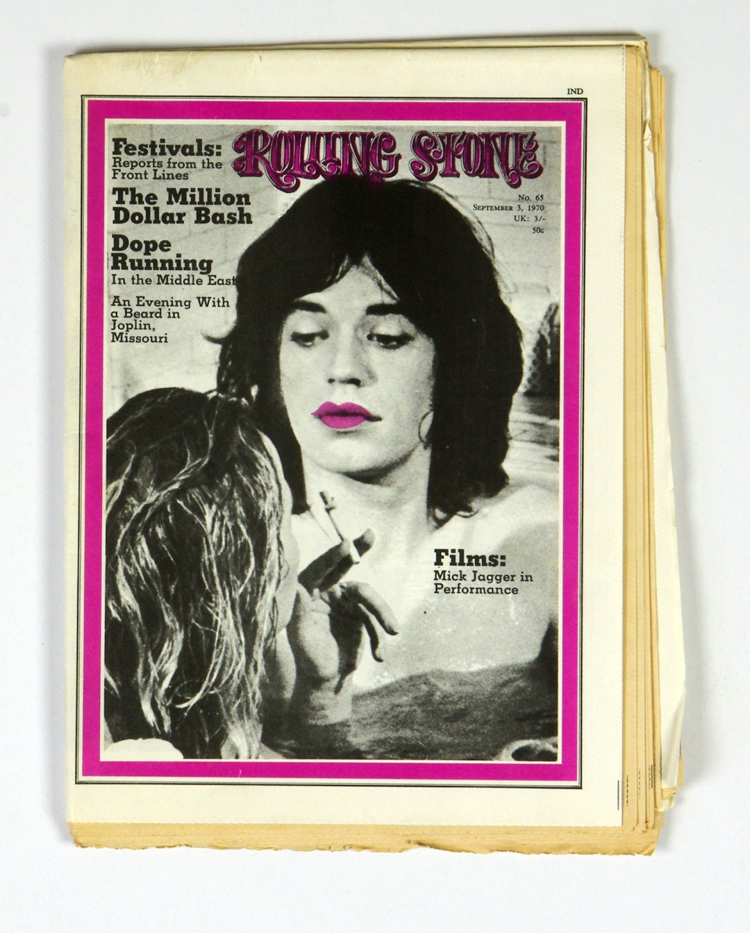 Rolling Stone Magazine 1970 Sep 3 No. 65 Mick Jagger