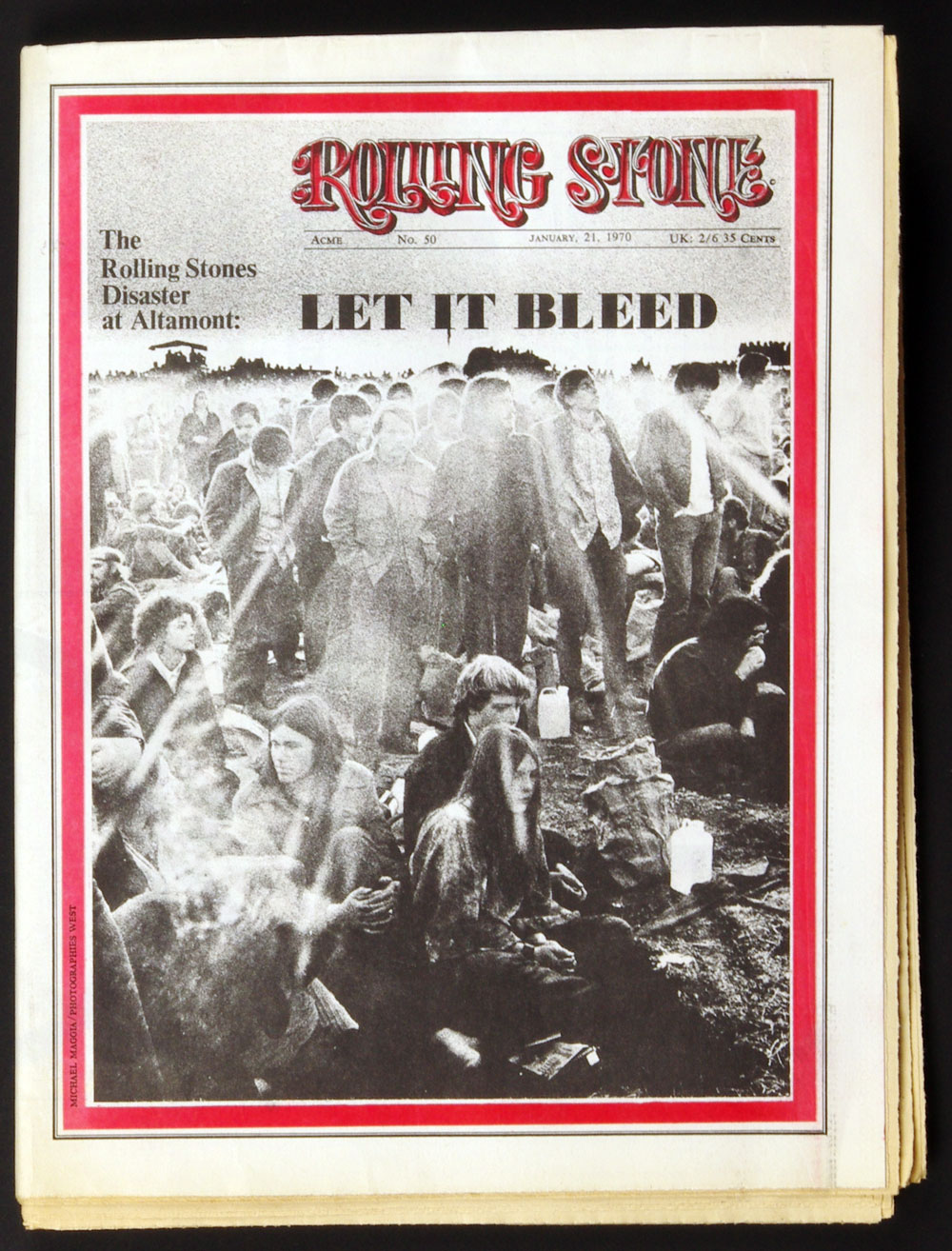 Rolling Stone Magazine 1970 Jan 21 No. 50 The Rolling Stones Disaster in Altamont