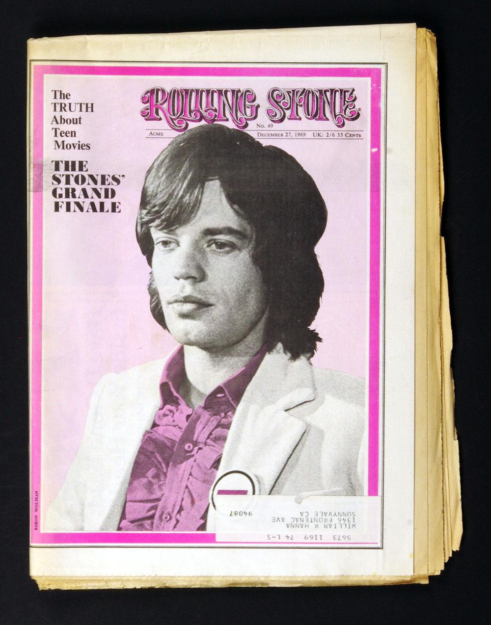 Rolling Stone Magazine 1969 Dec 27 No. 49 Mick Jagger