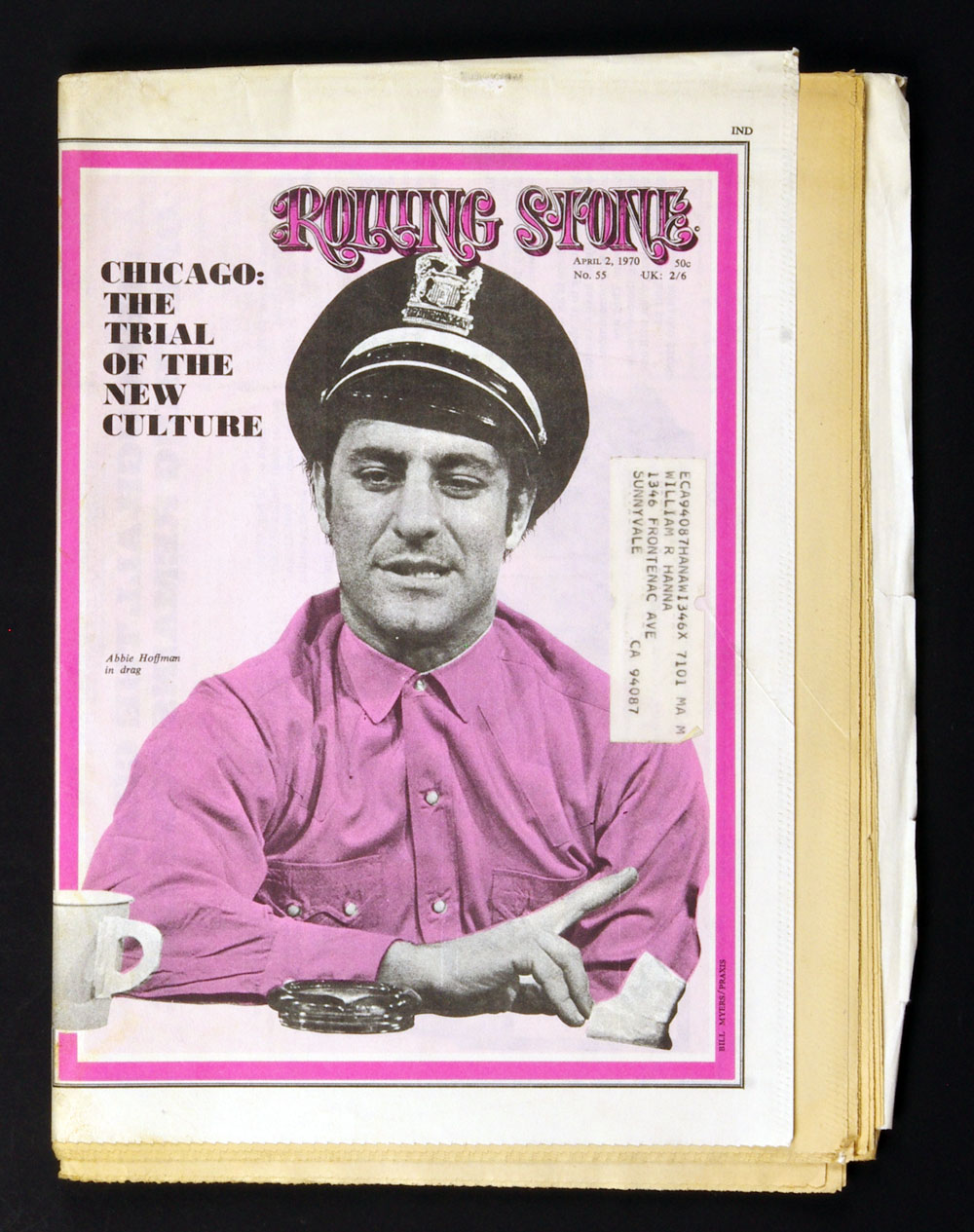 Rolling Stone Magazine 1970 Apr 2 No.55 Abbie Hoffman