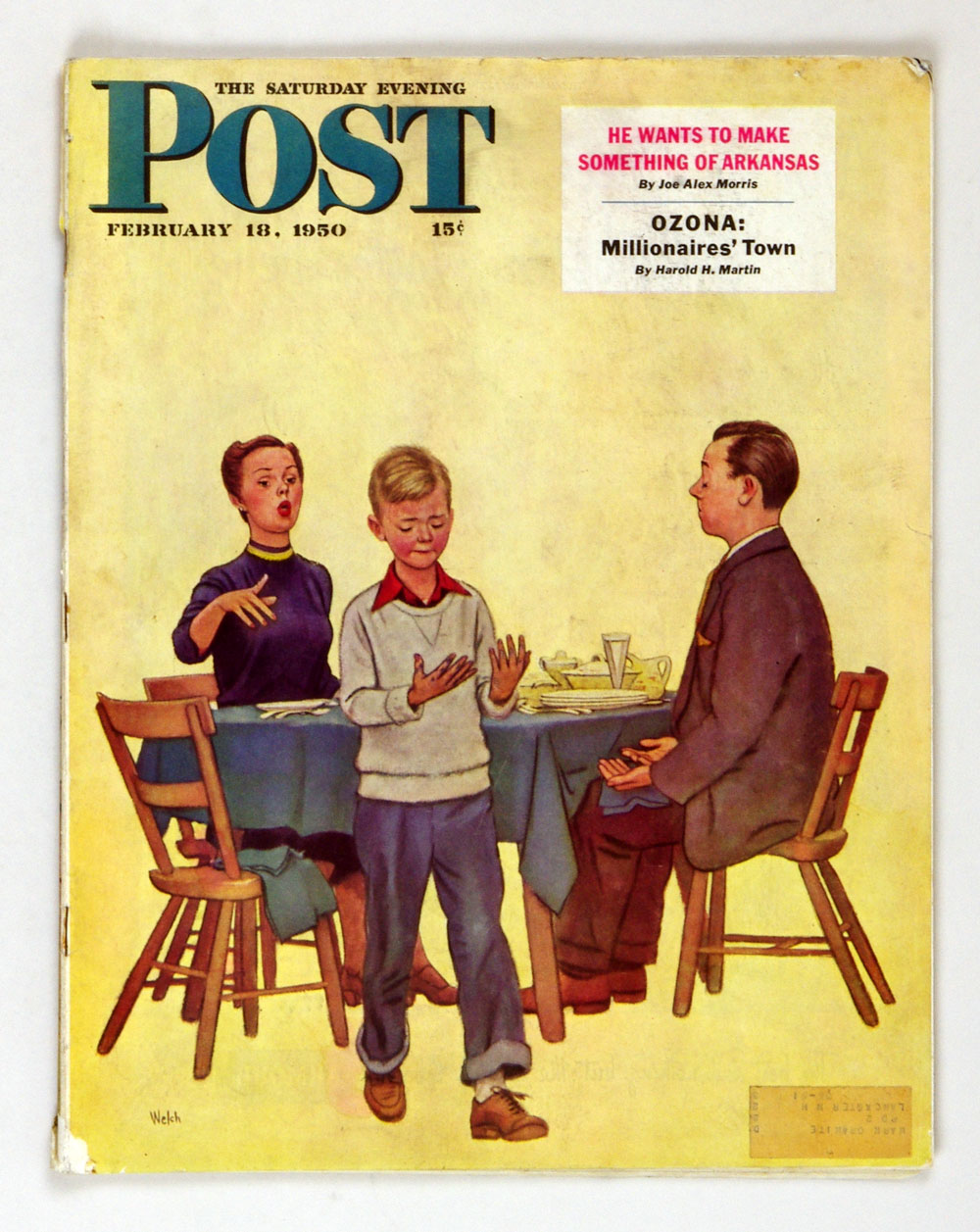 The Saturday Evening Post 1950 Feb 18 Dirty Hands & Dinner by Welch