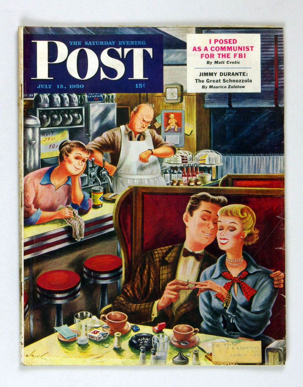 The Saturday Evening Post 1950 Jul 15 Romance in a Diner