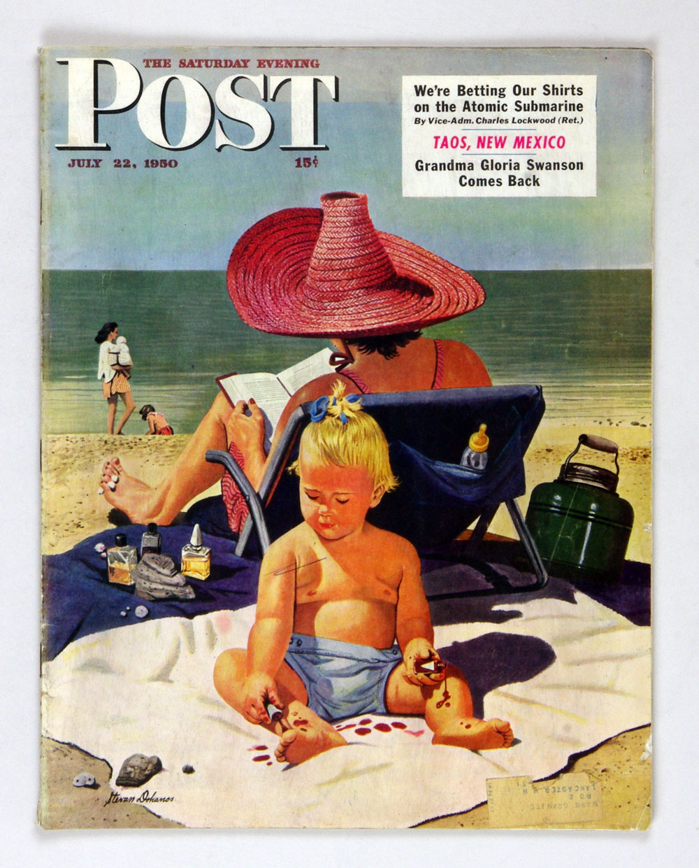 The Saturday Evening Post 1950 Jul 22 Baby on the Beach