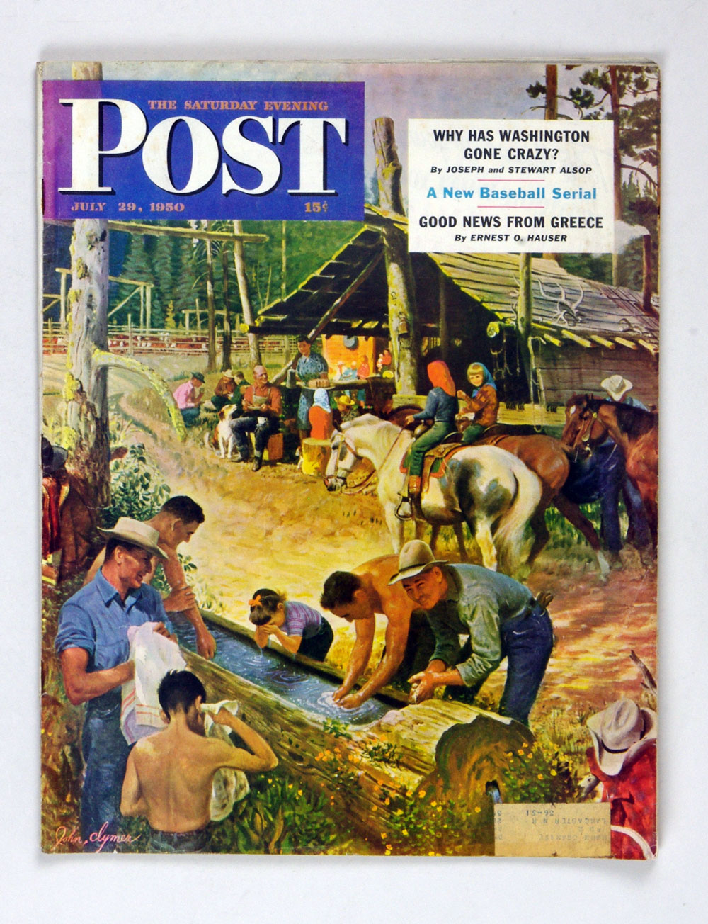 The Saturday Evening Post 1950 Jul 29 Washing Up Outdoors