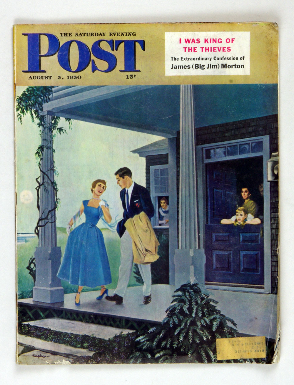 The Saturday Evening Post 1950 Aug 5 Leaving for a Date by Hughes
