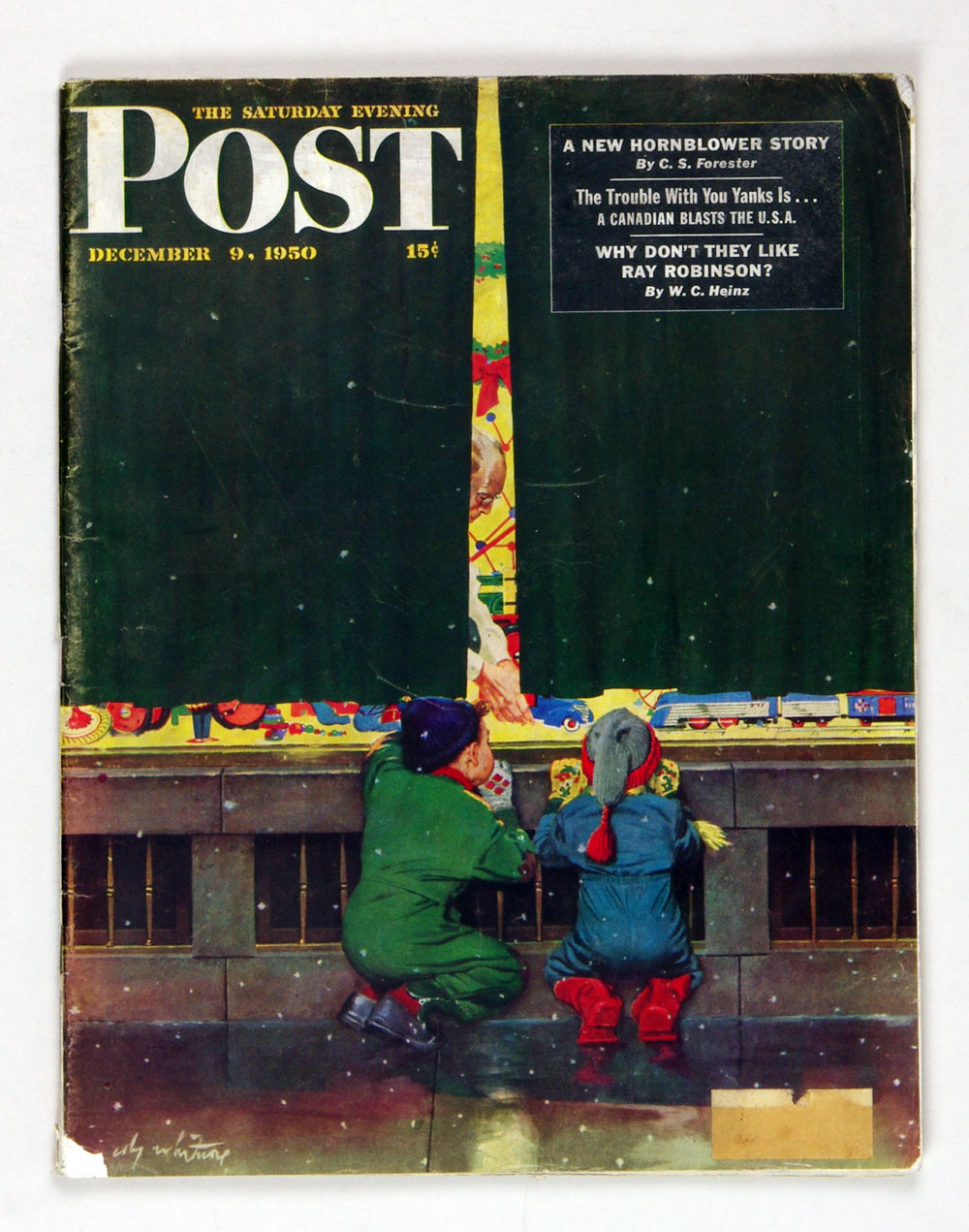 The Saturday Evening Post 1950 Dec 9 Toy Store Window