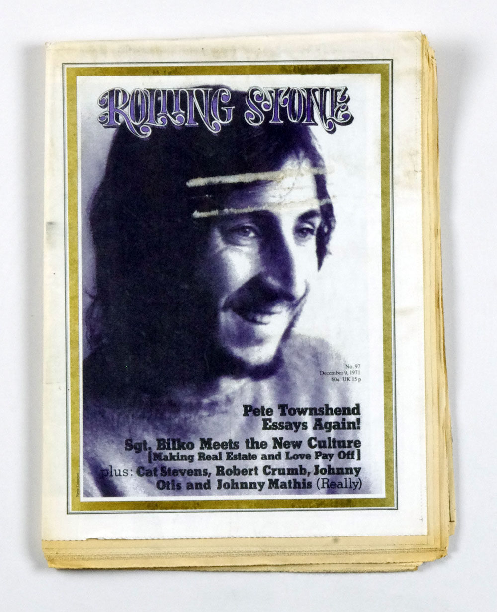 Rolling Stone Magazine 1971 Dec 9 No.97 Peter Townsend The WHO