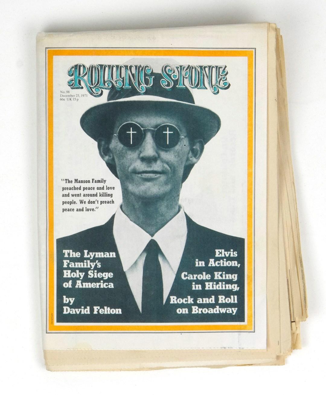 Rolling Stone Magazine 1971 Dec 23 No. 98 Mel Lyman