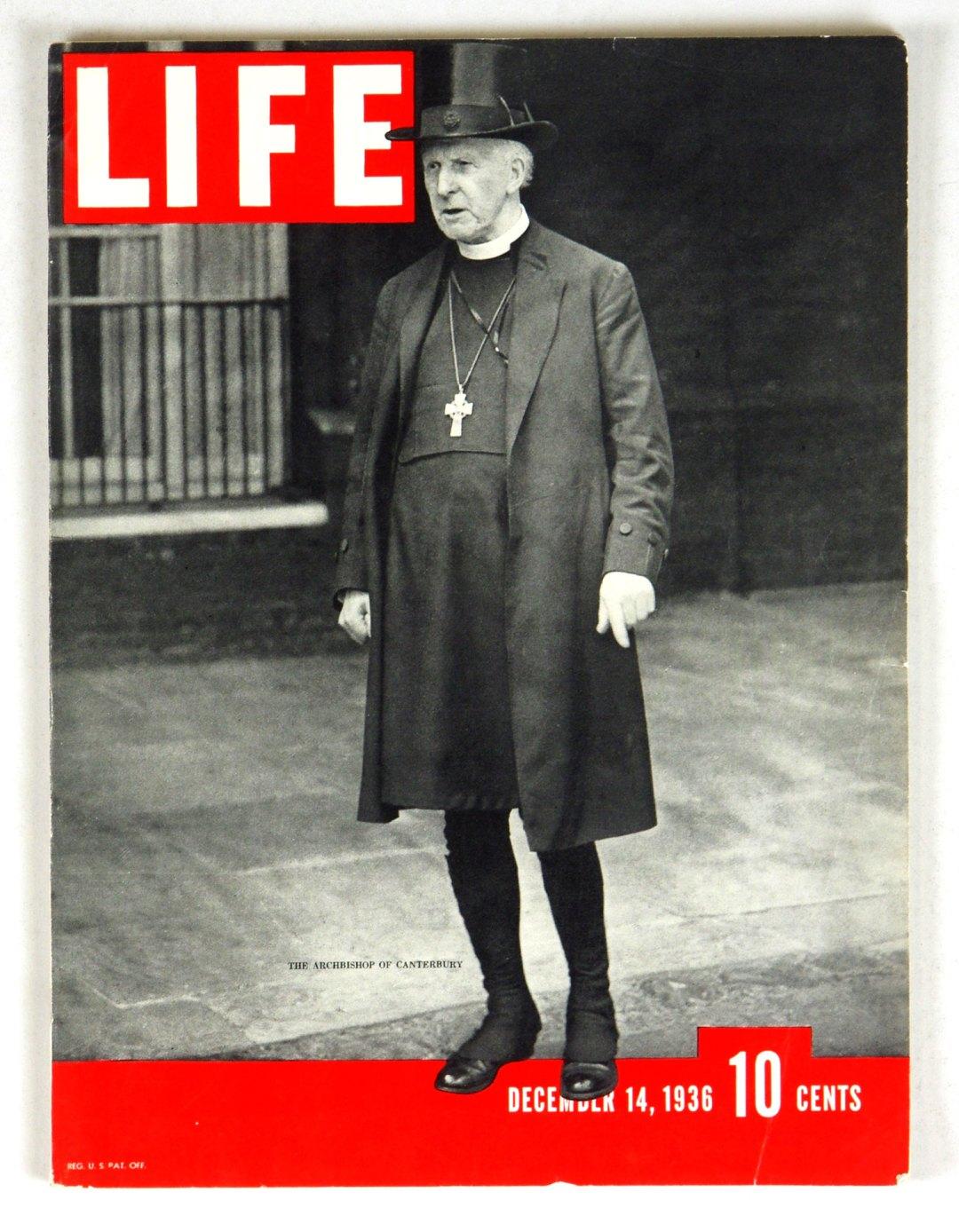 LIFE Magazine 1936 Dec 14 The Archbishop of Canterbury