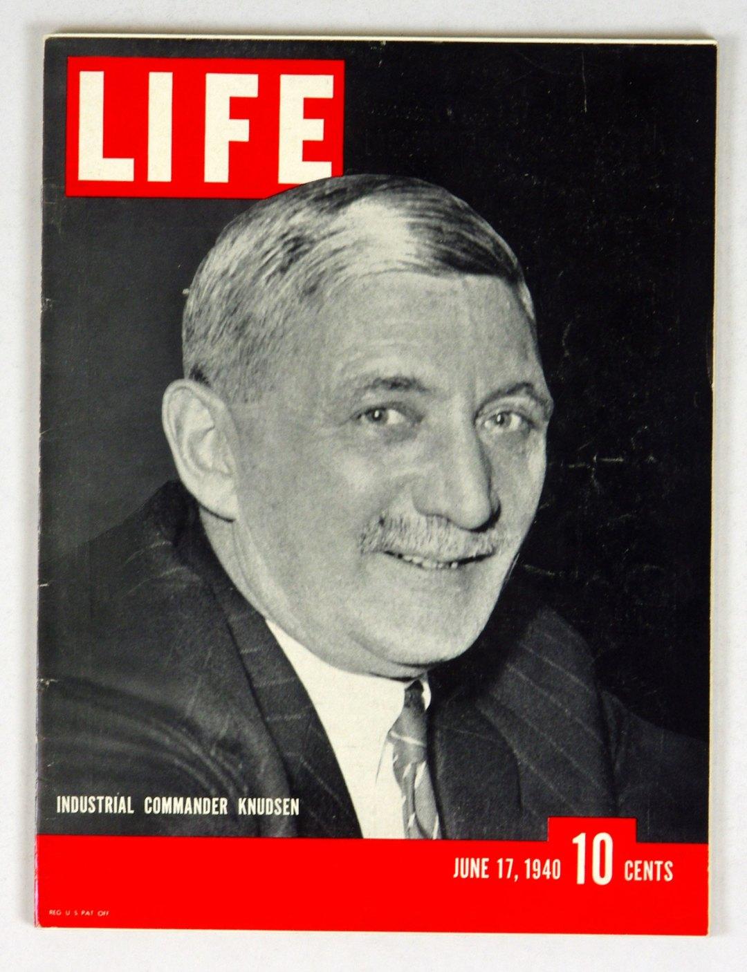 LIFE Magazine 1940 June 17 Industrial Commander Knudsen