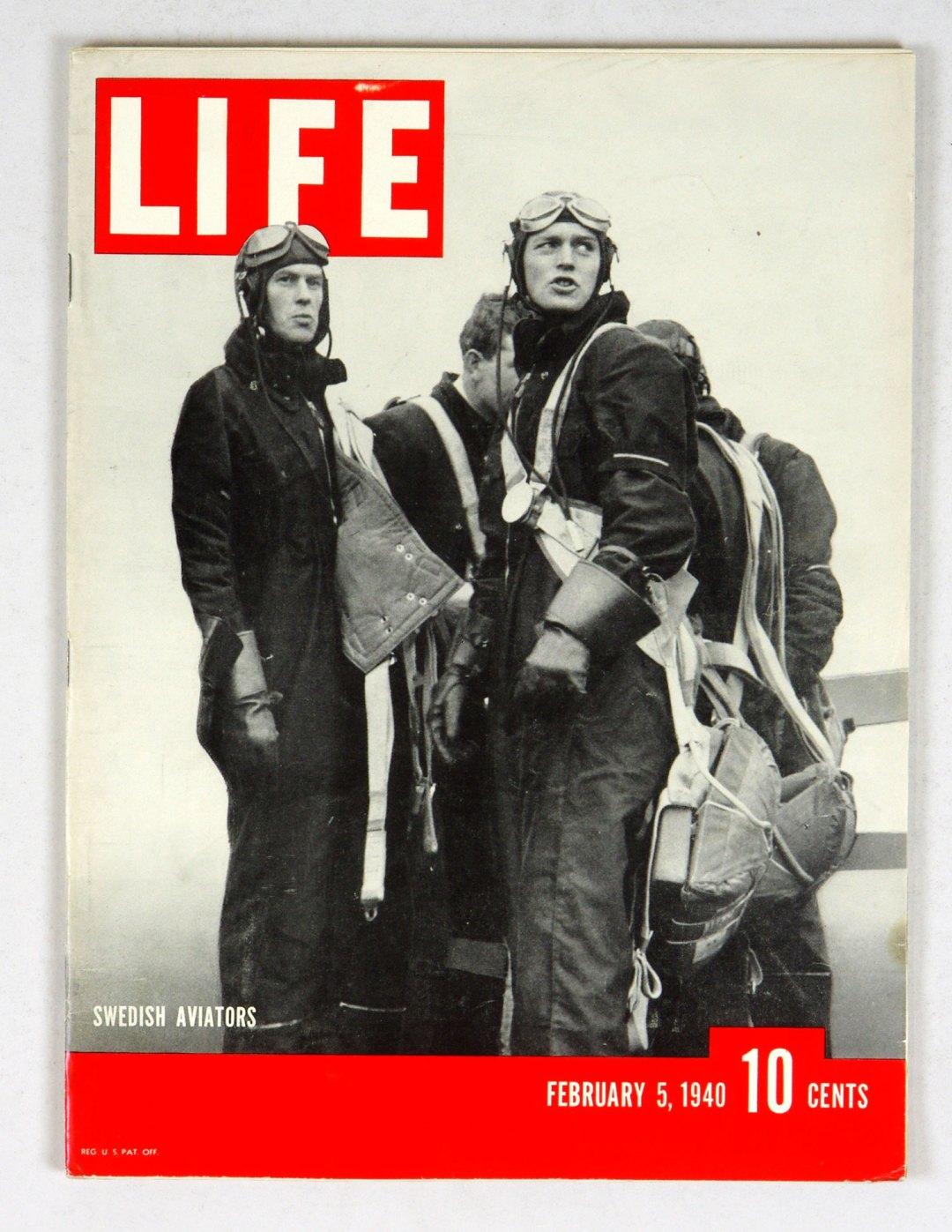LIFE Magazine 1940 February 5 Swedish Aviators