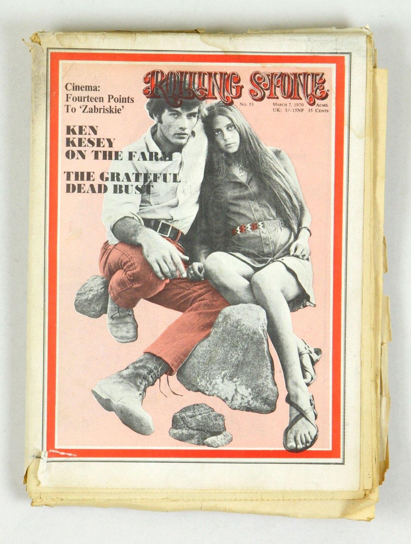 Rolling Stone Magazine 1970 Mar 7 No.53 Mark Frechette & Dara Halprin